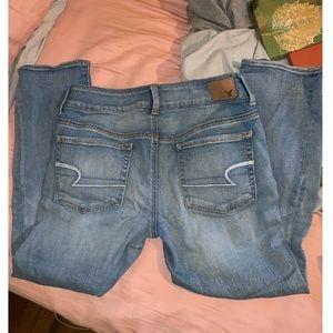 American Eagle: Artist crop jeans